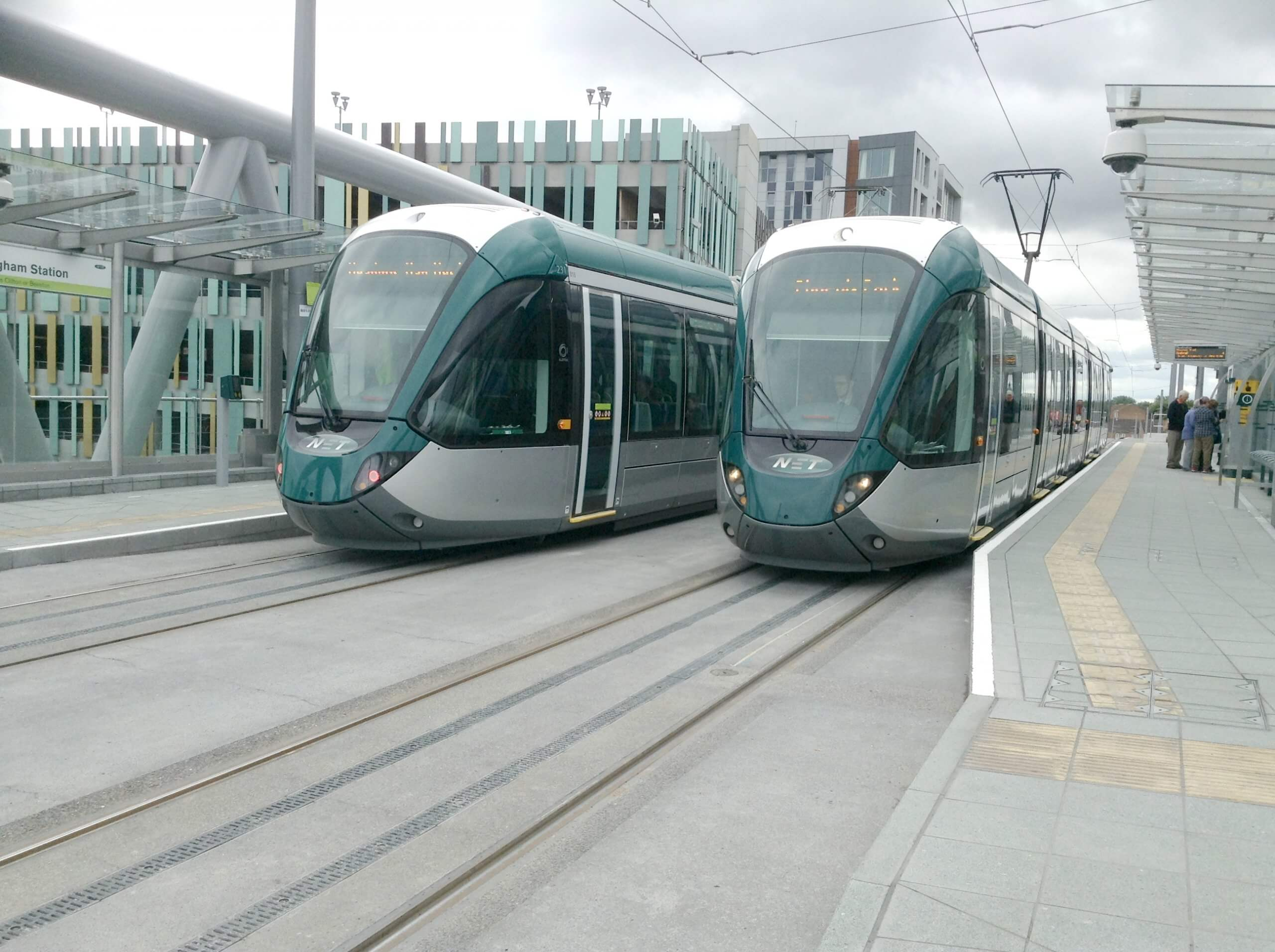 trams at the Station tram stop