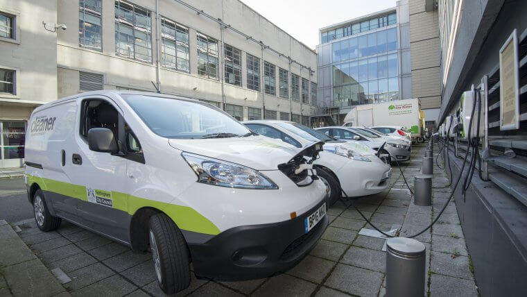 NCC electric fleet charging at Loxley