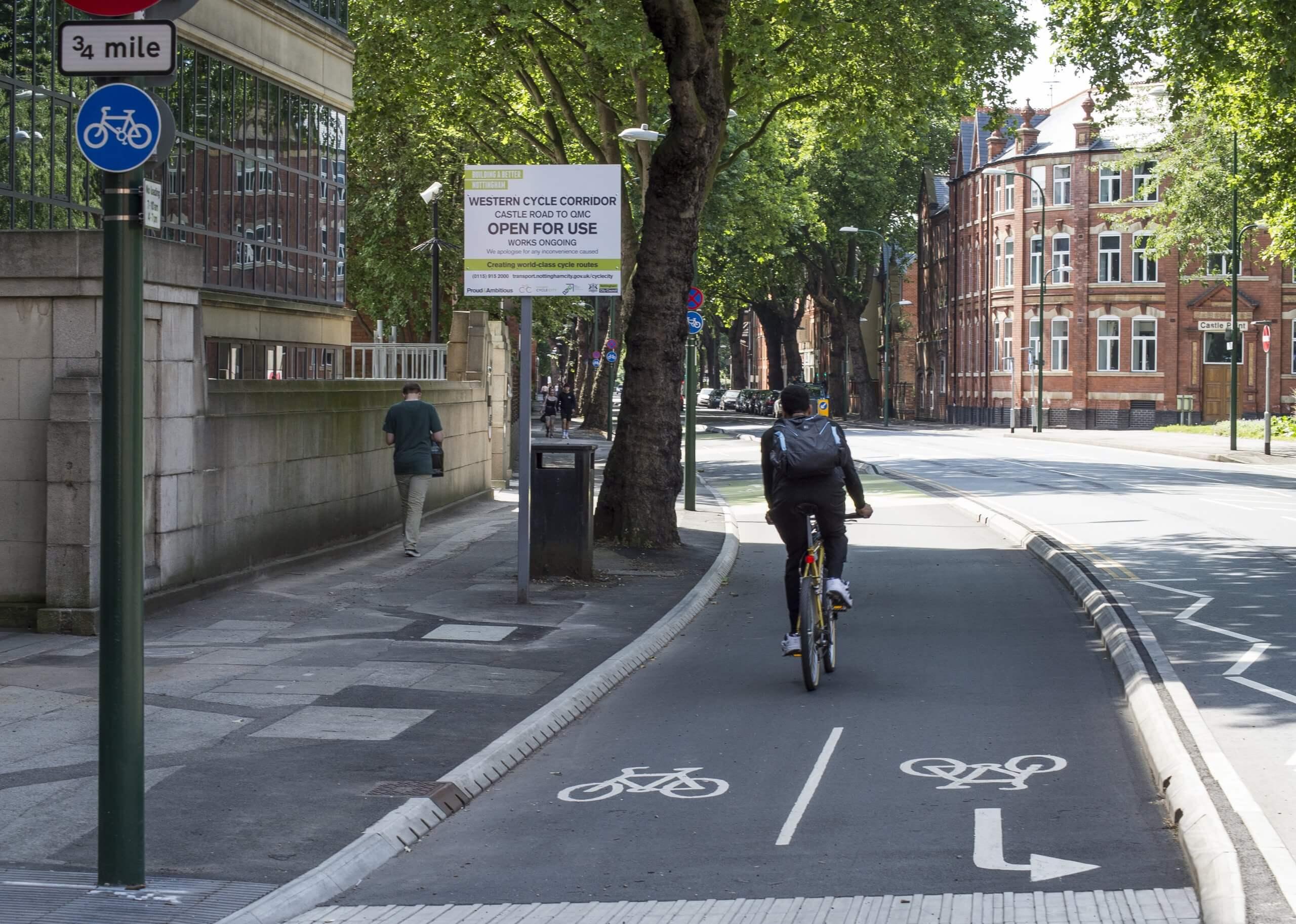 castle boulevard cycle lane