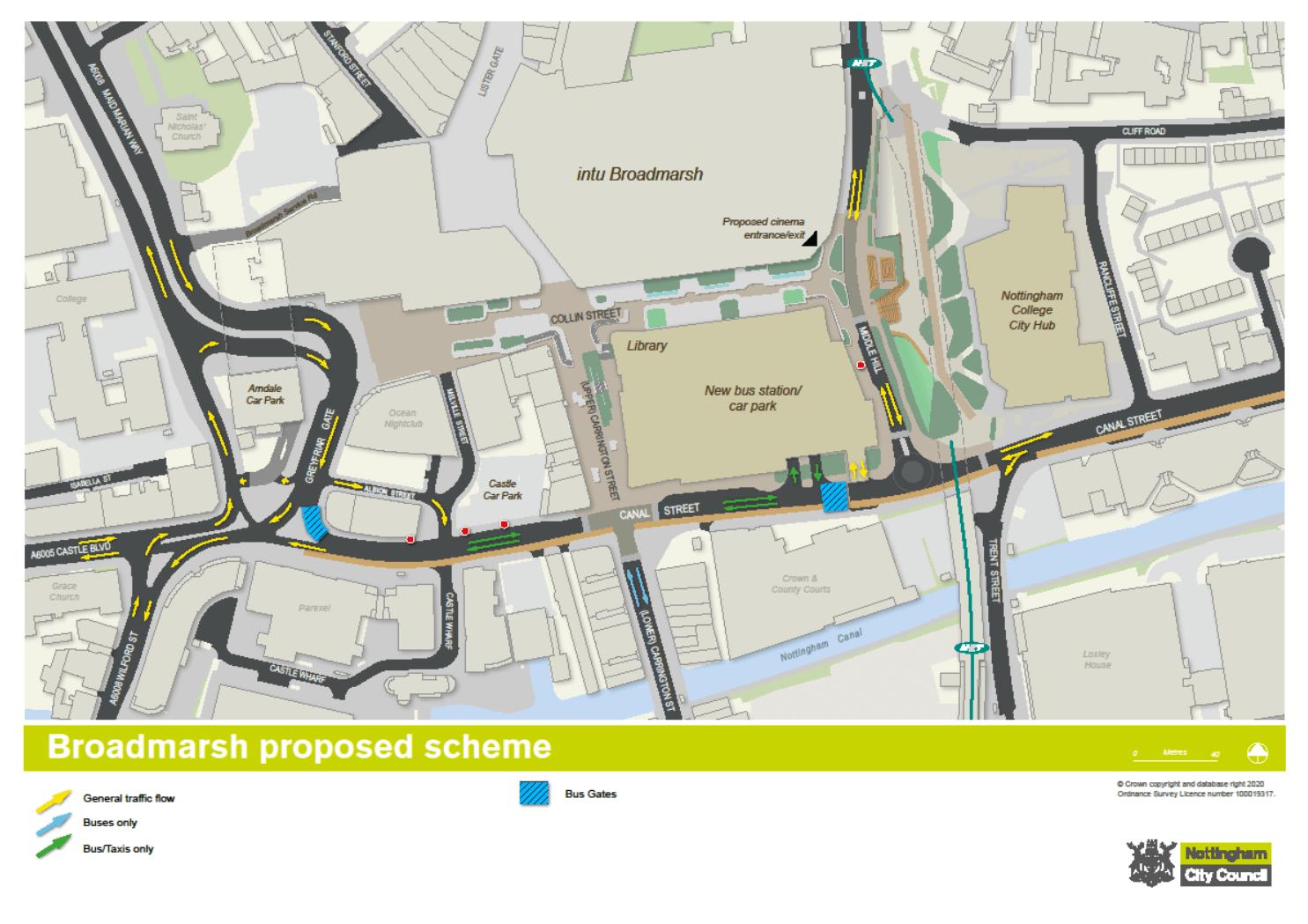 future broadmarsh layout