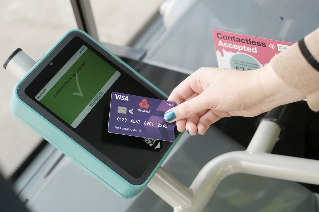 Contactless card in use