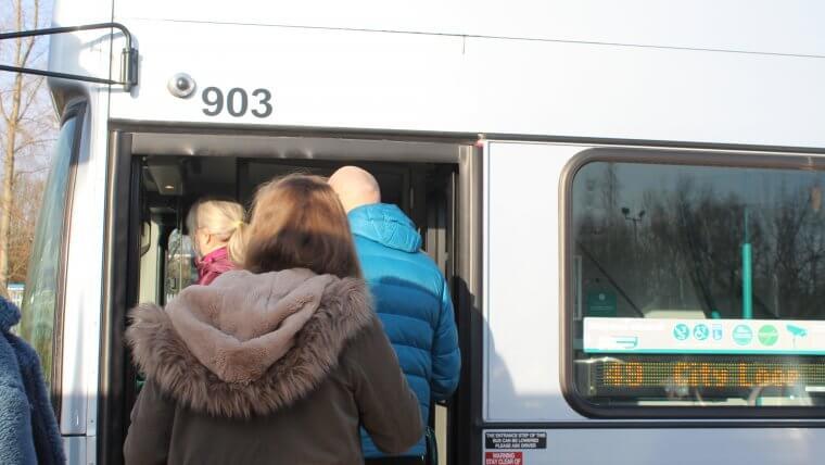 boarding bus