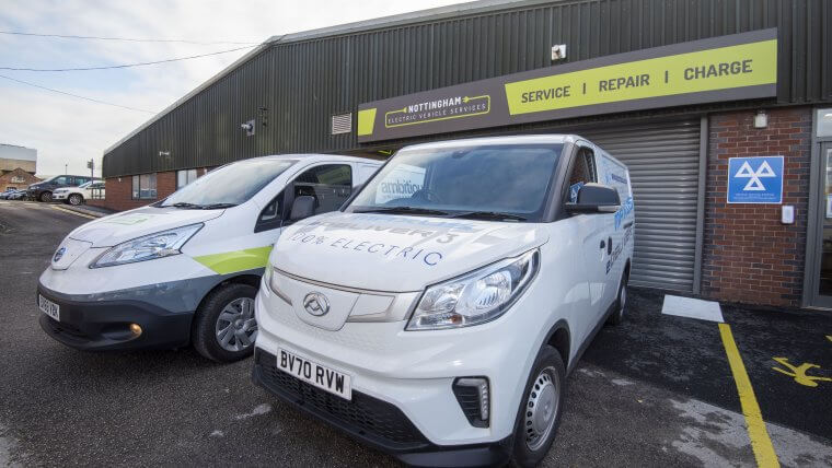 Electric vans at NEVS