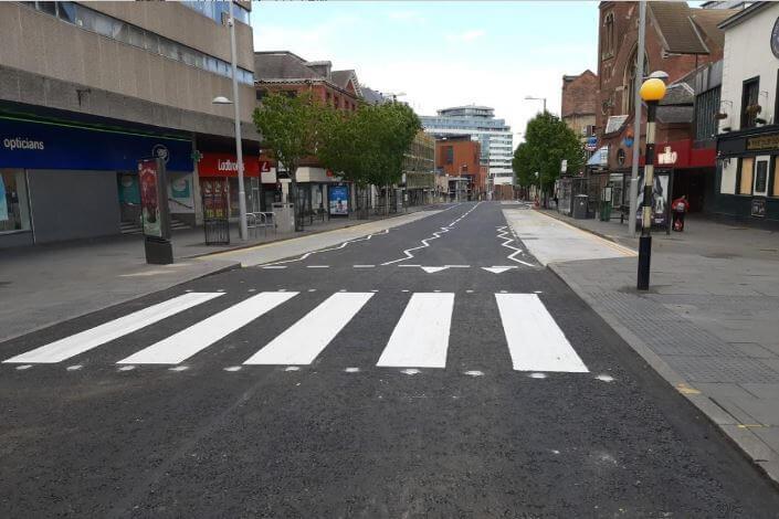 Parliament Street Nottingham resurfacing
