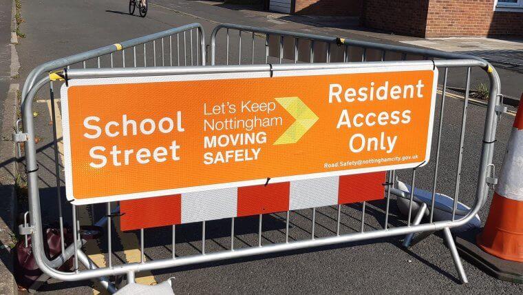 A car-free school street