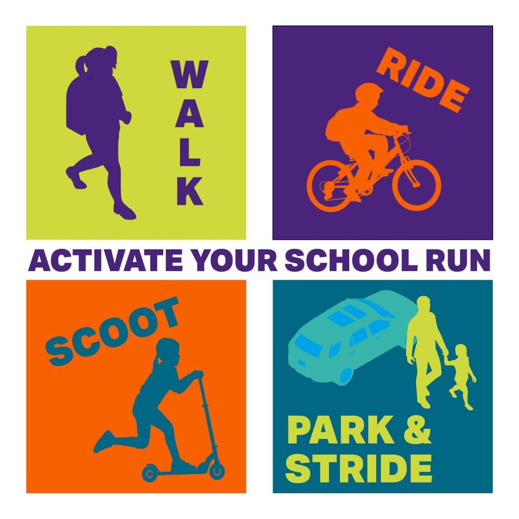 Walk cycle or scoot to school