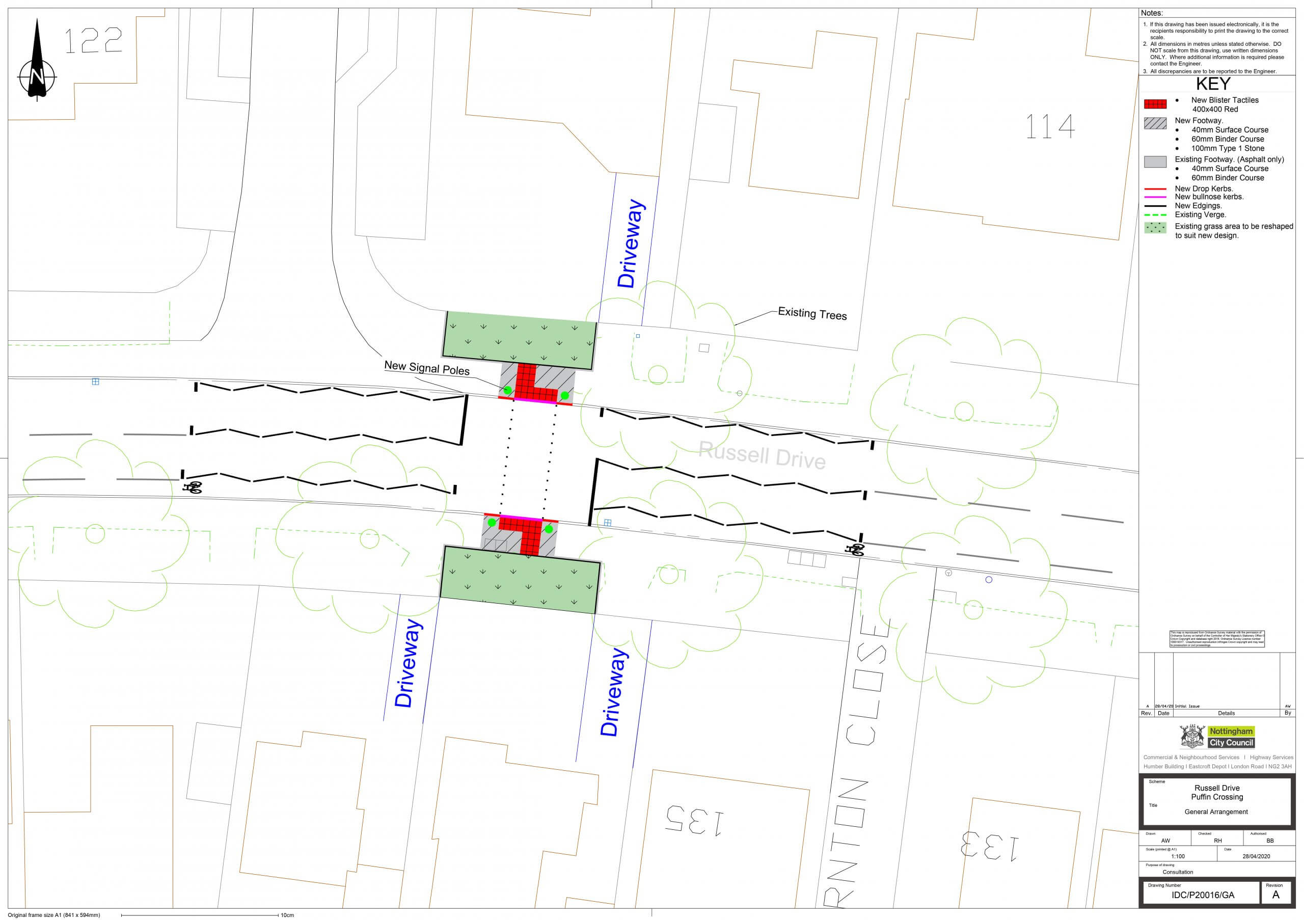 Russell Drive proposed crossing