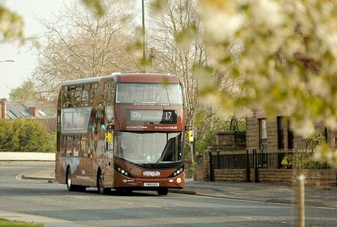 Brown line NCT bio gas bus