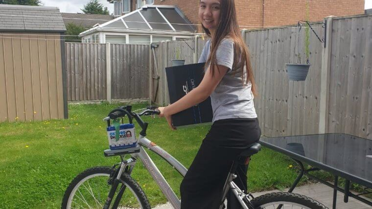 Christhel on her bike