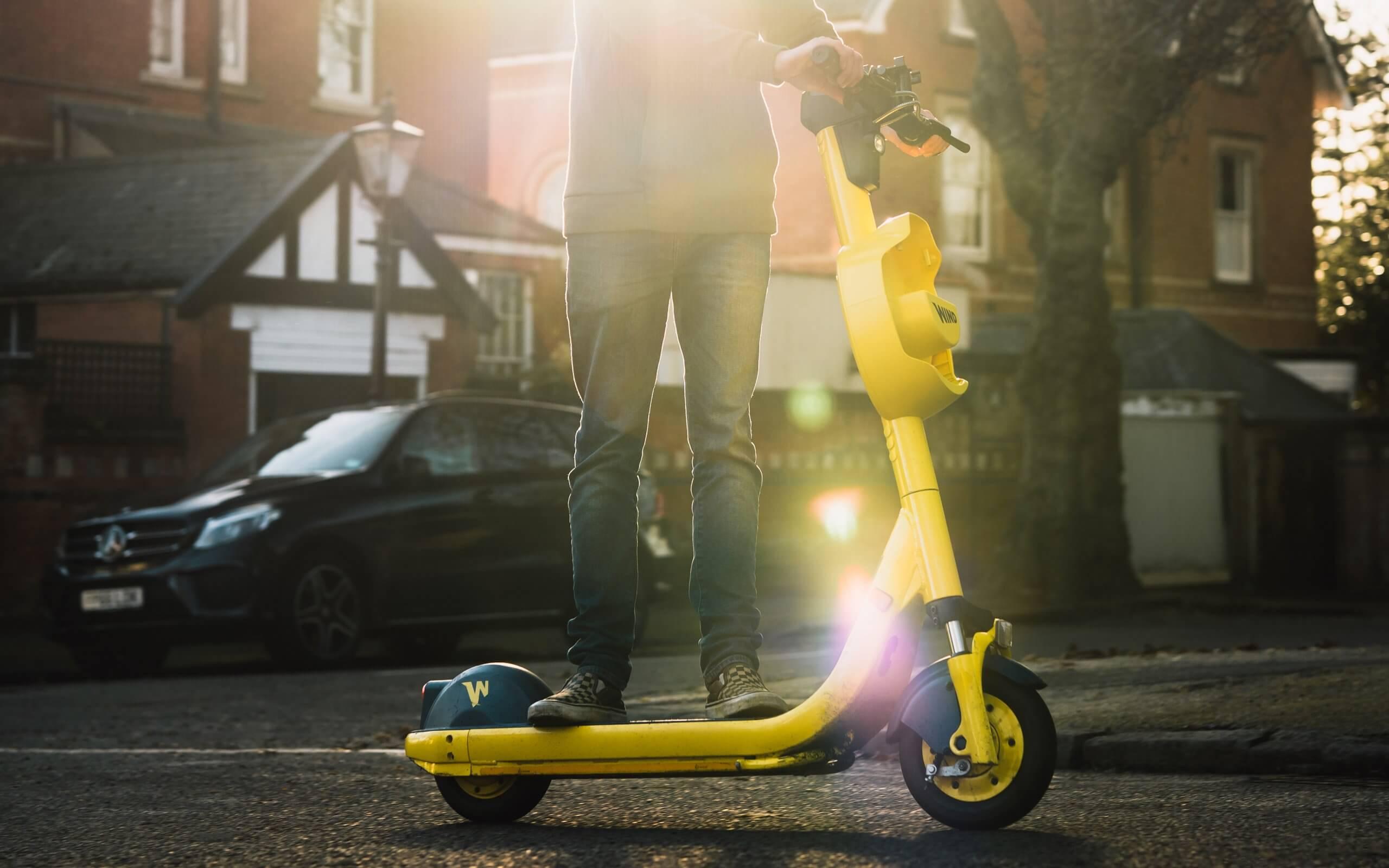 E-scooter on street - photo courtesy of Jake Osborne
