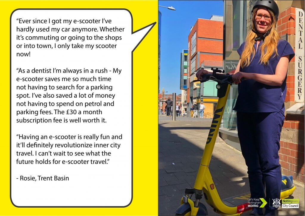 Key worker Rosie e-scooter case study