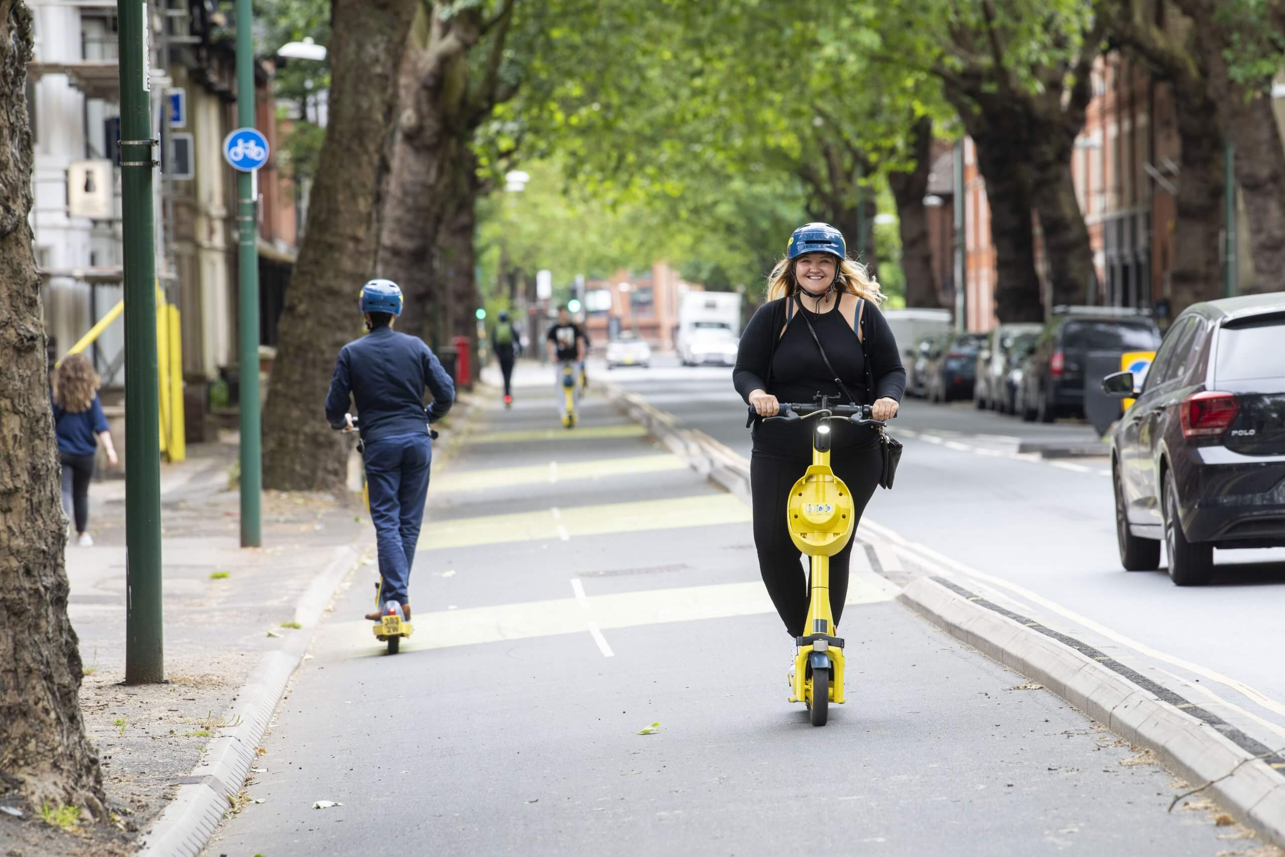 E-scooters in Castle Boulevard