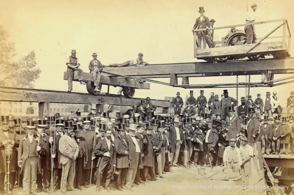 Laying the memorial stone 1869