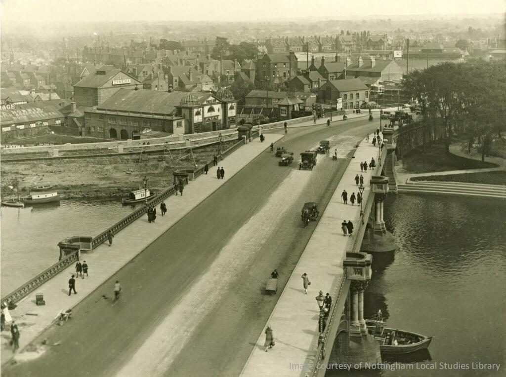 Widened bridge 1926