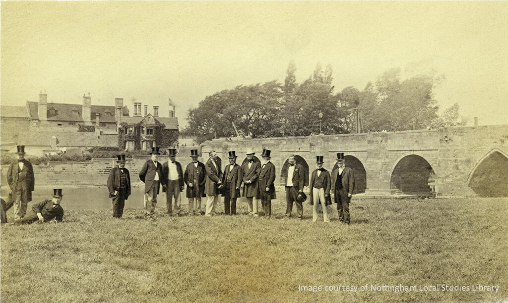 Old Trent Bridge 1868