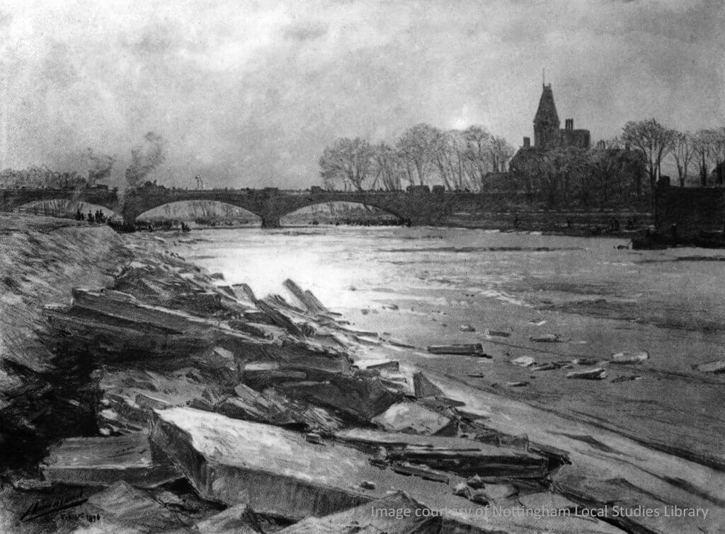 Ice on the banks 1896