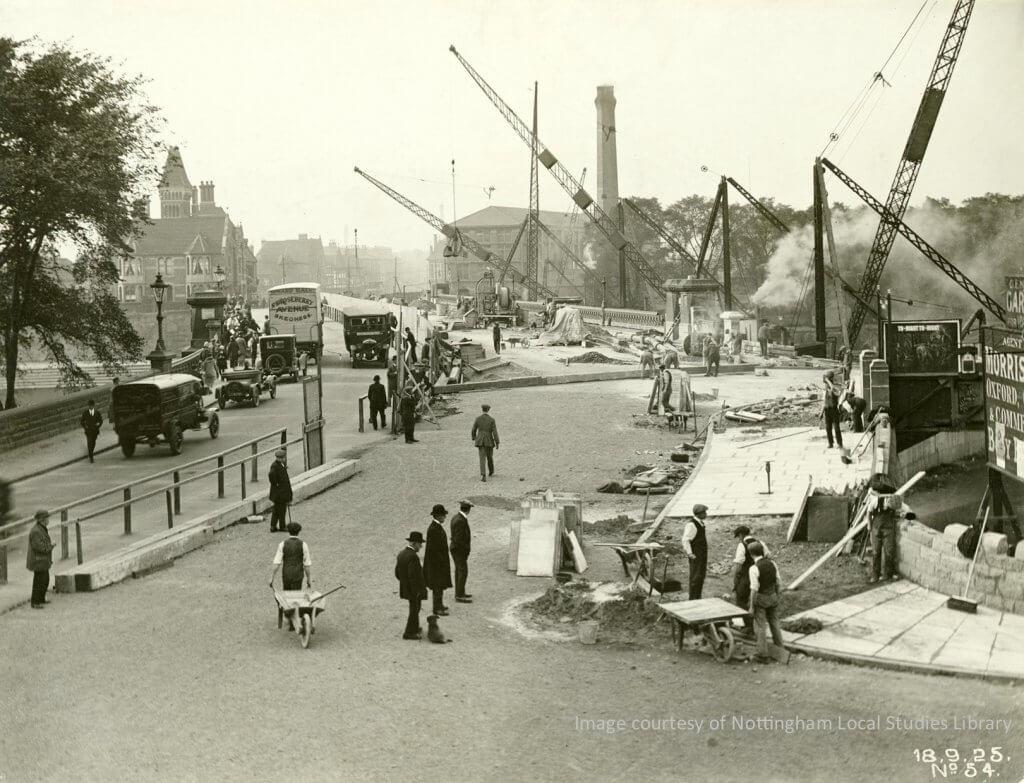 Widening the bridge 1926