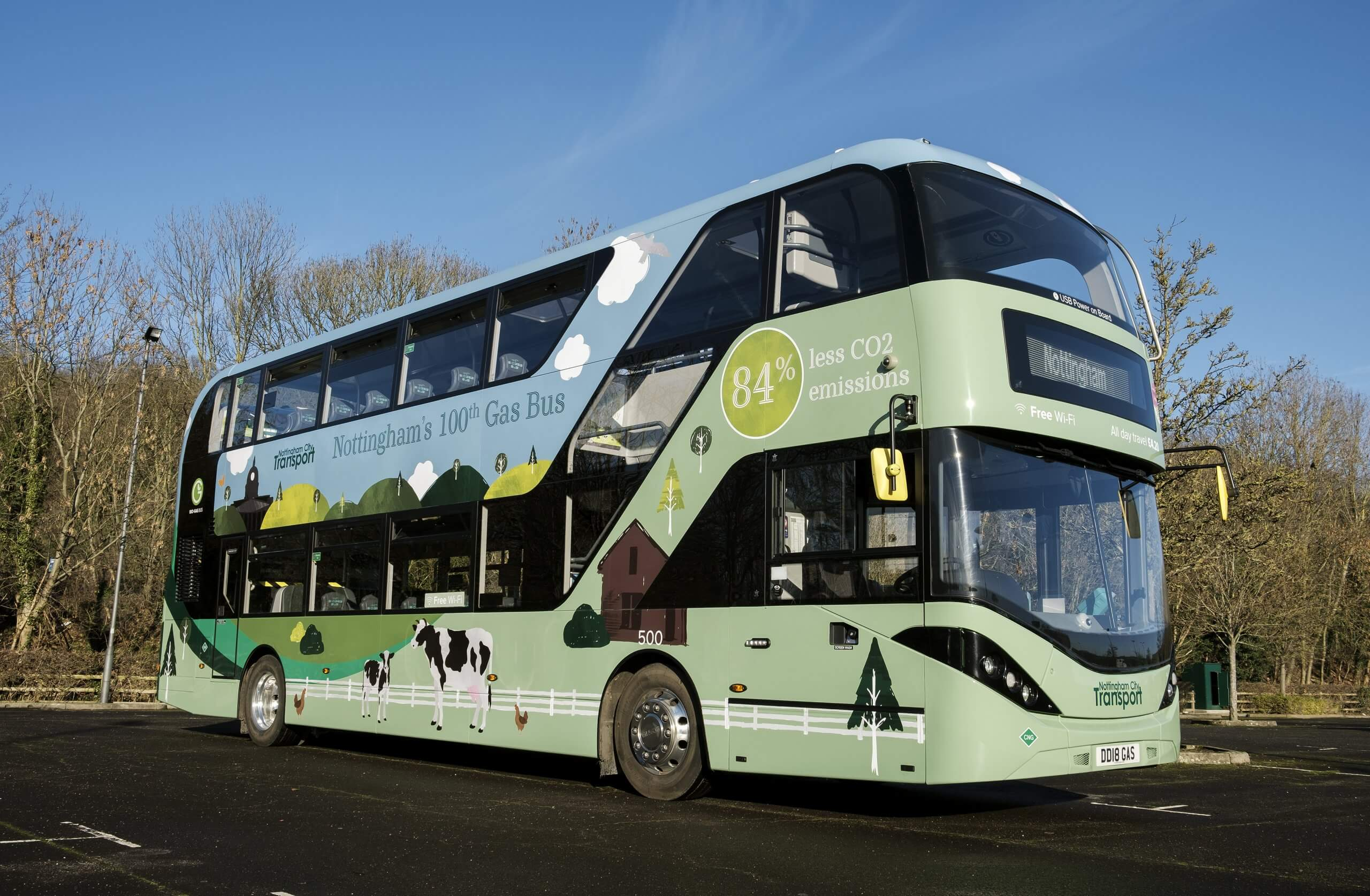 NCT's 100th gas bus